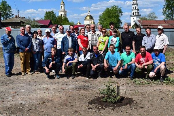 21 мая на территории дома купца Дождева прошел субботник.