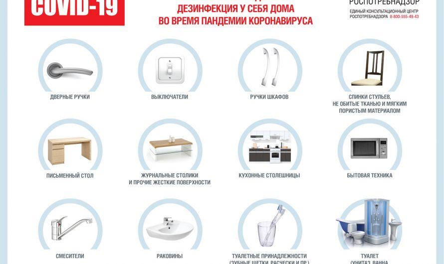 О рекомендациях по дезинфекции жилых помещений в период пандемии коронавируса
